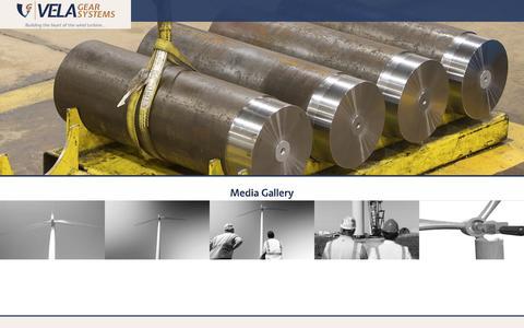 Screenshot of Press Page velagear.com - Vela Gear Systems | Media Gallery - captured Dec. 9, 2016