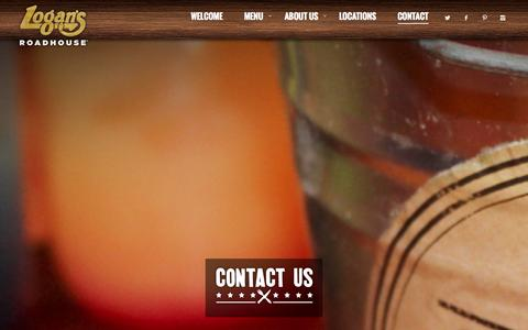 Screenshot of Contact Page logansroadhouse.com - Contact - Logans Roadhouse - captured Sept. 23, 2014