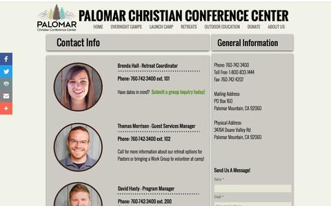 Screenshot of Contact Page Maps & Directions Page pccc.org - Contact Us - captured Oct. 19, 2016