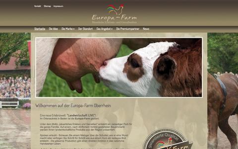 Screenshot of Home Page europa-farm.de - EUROPA-FARM - Bäuerliche Erlebnis- und Genußwelten in Meißenheim-Kürzell - captured Sept. 1, 2015