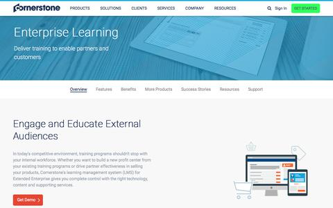 Enterprise Learning Management System (LMS) | Cornerstone