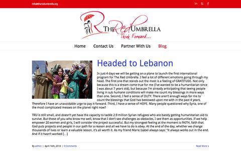 Screenshot of Blog theredumbrella.org - The Red Umbrella   –  Blog - captured Oct. 9, 2014