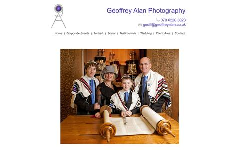 Screenshot of Home Page geoffreyalan.co.uk - Home - captured Aug. 4, 2015