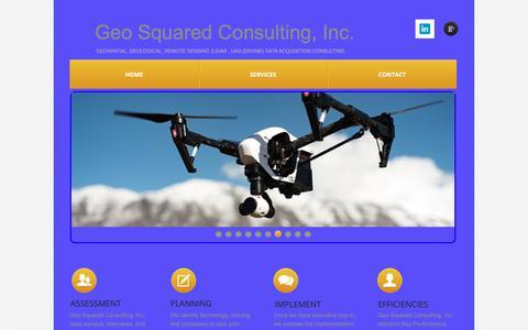 Screenshot of Home Page geosquared.com - Home - captured Nov. 10, 2018