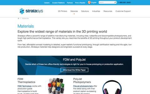 3D Printing Materials | Stratasys