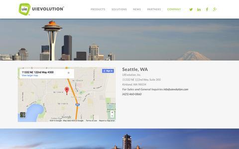 Screenshot of Contact Page uievolution.com - UIEvolution     Contact Us - captured July 3, 2015