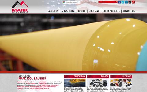 Screenshot of Home Page marktool.com - Mark Tool & Rubber - Molded Urethane - Franklin, Louisiana - captured Oct. 2, 2018