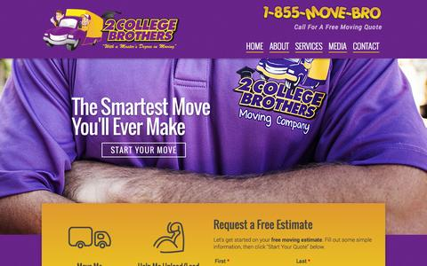 Screenshot of Home Page smartermovingsolutions.com - Gainesville Movers | Gainesville, FL | 2 College Brothers, Inc. - captured Oct. 7, 2014