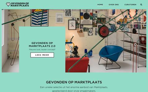 Screenshot of Home Page gevondenopmarktplaats.nl - Gevonden op Marktplaats - Gevonden op Marktplaats - captured Oct. 14, 2018