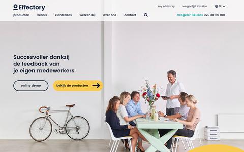 Screenshot of Home Page effectory.nl - Effectory - Leading in employee feedback - captured July 15, 2018