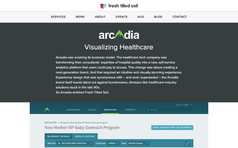 Screenshot of Case Studies Page freshtilledsoil.com - UX Design Case Study - Arcadia Solutions  | Fresh Tilled Soil - captured Oct. 22, 2016
