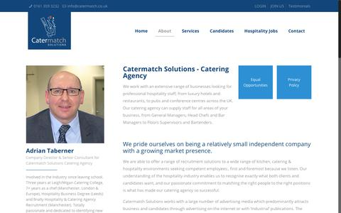 Screenshot of About Page catermatch.co.uk - About Catermatch Solutions - Catering Agency - Catermatch Solutions - captured July 17, 2017