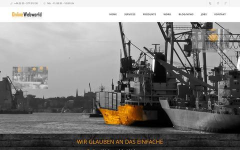 Screenshot of Home Page online-webworld.de - Webdesign Berlin - Webagentur Online Webworld - captured Oct. 3, 2014