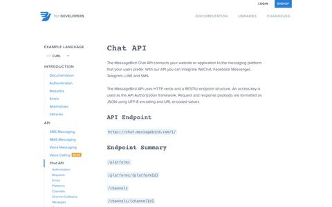 Documentation   Chat API