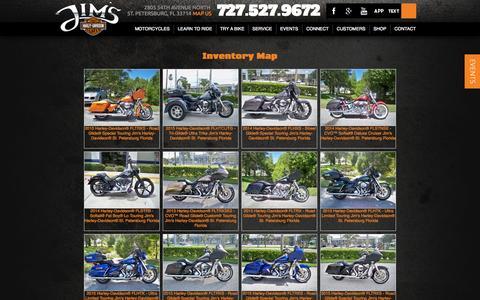 Screenshot of Site Map Page jimshd.com - Inventorymap | Jim's Harley-Davidson® | St. Petersburg Florida - captured Oct. 6, 2014