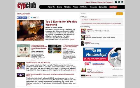 Screenshot of Blog cypclub.com - Blog | CitYPulse Young Professionals Guide to Columbus | Columbus Young Professionals Club - captured Oct. 8, 2014