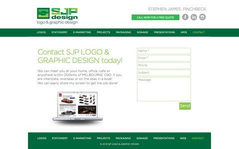 Screenshot of Contact Page sjpdesign.com.au - Sjp2018 | CONTACT - captured Oct. 1, 2018