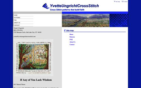 Screenshot of Site Map Page yvetteungrichtcrossstitch.com - Site Map - captured Oct. 20, 2018