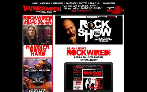Screenshot of About Page rockwired.com - ABOUT ROCKWiRED.COM AND ROCKWiRED MAGAZiNE - captured Oct. 18, 2018