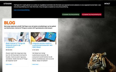 Screenshot of Blog teletigers.nl - Blog - captured Sept. 21, 2018