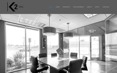 Screenshot of Home Page k2dci.com - K2 Inc - captured Aug. 5, 2015