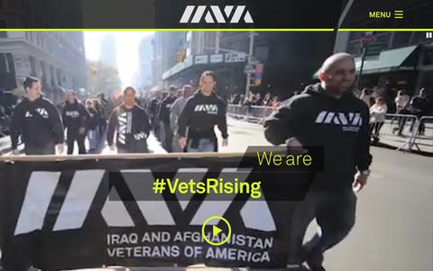 Screenshot of Home Page iava.org - Iraq and Afghanistan Veterans of America (IAVA) » We've got your back. - captured Dec. 8, 2015