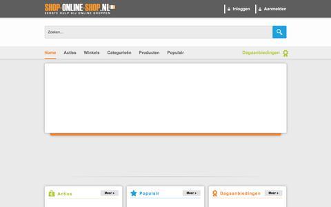 Screenshot of Home Page shop-online-shop.nl - Dagaanbieding | Kortingscode | Shop | Online Shoppen - Home - captured Sept. 23, 2018
