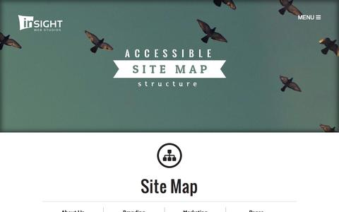 Screenshot of Site Map Page insightwebstudios.com - Site Map - Insight Web Studios - captured Oct. 29, 2014
