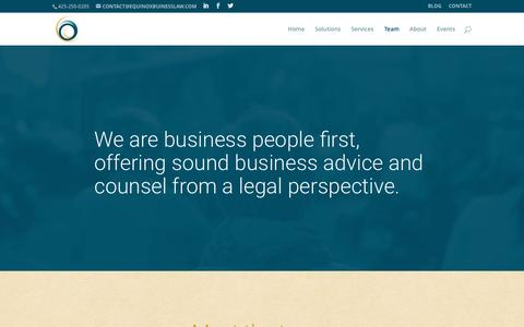 Screenshot of Team Page equinoxbusinesslaw.com - team | EQUINOX - captured Nov. 9, 2016