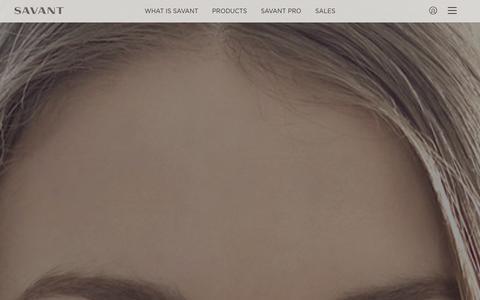 Screenshot of Products Page savant.com - Products | Savant - captured Dec. 22, 2015