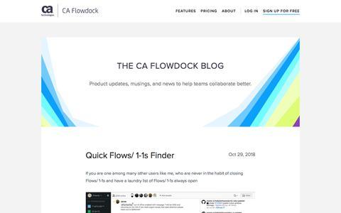 Screenshot of Blog flowdock.com - The CA Flowdock Blog - captured Aug. 19, 2019