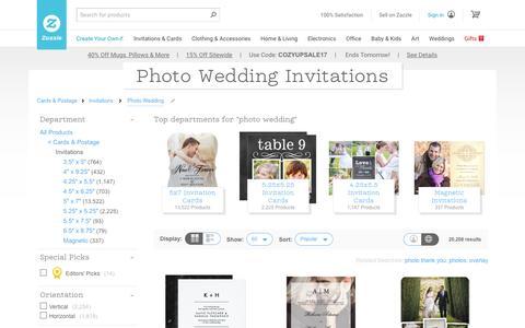 Photo Wedding Invitations & Announcements | Zazzle