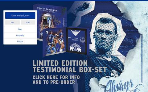 Screenshot of Home Page evertonfc.com - Home | Everton Football Club - captured Nov. 29, 2015