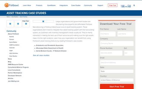 Asset Tracking Case Studies | Fishbowl