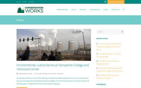 Screenshot of Press Page conservationworksllc.com - Conservation Works - captured Nov. 5, 2018