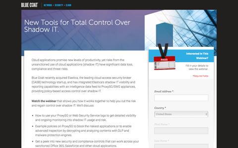 Screenshot of Landing Page bluecoat.com - Blue Coat - captured Sept. 24, 2016