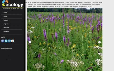 Screenshot of Home Page ecologyllc.com - ecology + vision, llc - captured Feb. 2, 2016