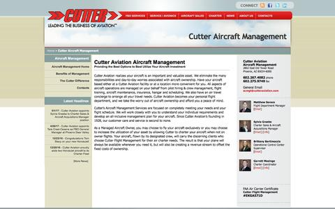 Screenshot of Team Page cutteraviation.com - Cutter Aircraft Management | Cutter Aviation - captured May 24, 2017