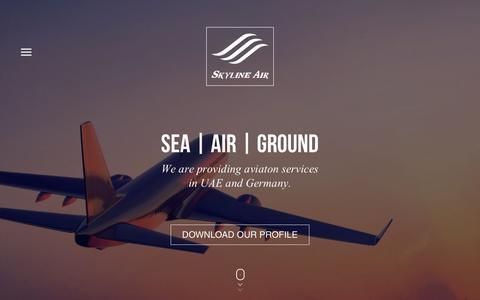 Screenshot of Home Page Menu Page skylineair.com - Skyline Air - captured July 23, 2016
