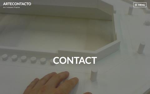 Screenshot of Contact Page wordpress.com - Contact – ArteConTacto - captured July 31, 2018