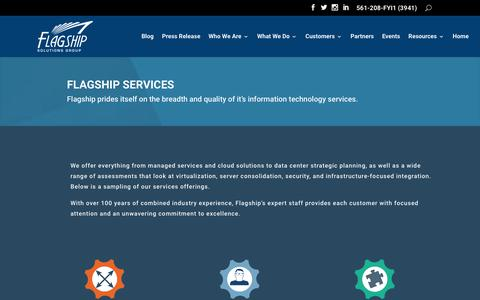 Screenshot of Services Page flagshipsg.com - Services | Flagship Solutions Group - captured Sept. 11, 2018