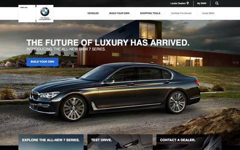 Screenshot of Home Page bmwusa.com - BMW of North America, LLC - captured Oct. 23, 2015