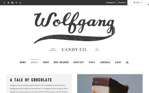 Screenshot of About Page wolfgangcandy.com - About | Wolfgang Candy - captured Nov. 30, 2016