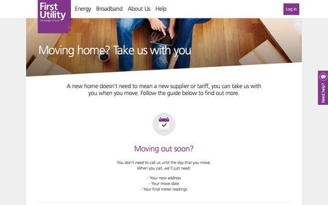 First Utility - Moving home? Take us with you