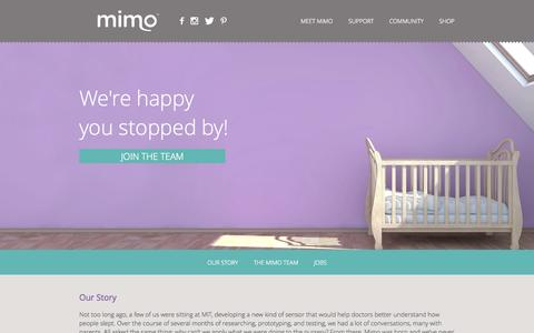 Screenshot of About Page mimobaby.com - Mimo - The Smart Baby Monitor - captured Nov. 3, 2014