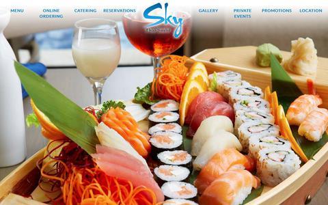 Screenshot of Home Page skythaisushi.com - Sky Thai Sushi | Best Sushi & Thai Food on Las Olas Blvd. Ft Lauderdale - captured Oct. 31, 2017