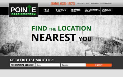 Screenshot of Locations Page pointepest.com - Pointe Pest Control: North Idaho, Oregon & Washington - captured Jan. 29, 2016