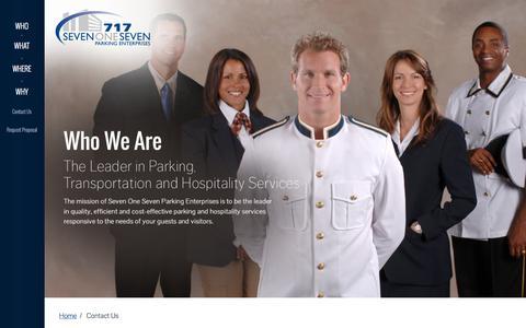 Screenshot of Contact Page 717parking.com - 717 Parking Enterprises | Contact Us - captured Oct. 26, 2014