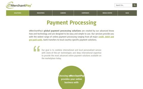 Screenshot of Products Page emerchantpay.com - Payment Processing Solutions | eMerchantPay - captured Sept. 23, 2014