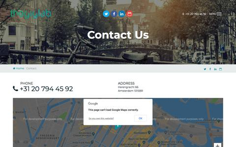 Screenshot of Contact Page thegiglab.com - Contact - captured Sept. 21, 2018